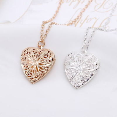 """Wholesale 925 Sterling Silver Heart Necklace Locket Photo Pendant 18"""" Inches"""
