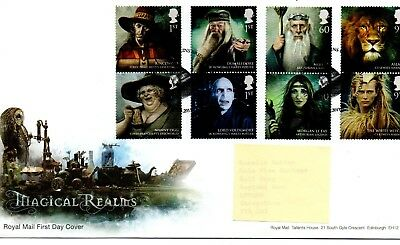 GB - FIRST DAY COVER - FDC - COMMEMS -2011- Magical Realms - Pmk Merlins Bridge