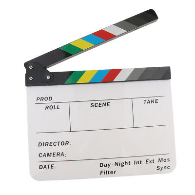 Acrylic Movie Action Scene Cut Clapper Board Director Clapboard Role Play