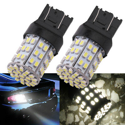 2X T20 W21W 7443 7440 LED 64-SMD 1206 Tail Stop Brake Light Bulb Lamp White ÄÄ
