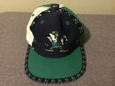 Vintage Pro Player Notre Dame Fighting Irish Snapback Hat Cap NCAA Rare!