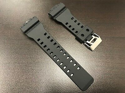 16mm Rubber Watch Band For G-SHOCK G-8900 GA-100 GA-110 GA-120 GA-300 - Black