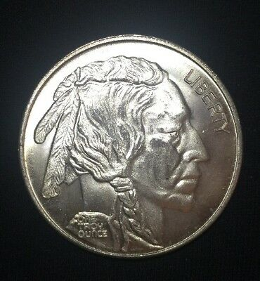.999 Fine Silver Round 1 oz - Buffalo Nickel