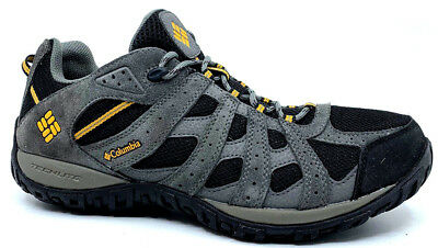 8dac6b8e902252 Columbia Redmond Waterproof Mens Low Hiking Shoe Black-Squash 3938-010