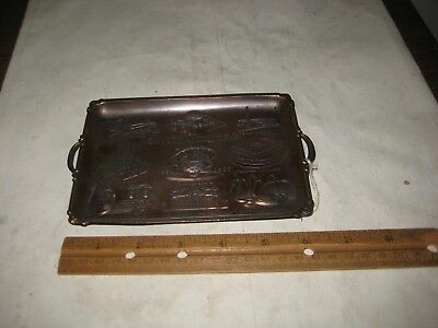 212F-1 1964 Unisphere New York Worlds Fair Copper Tray