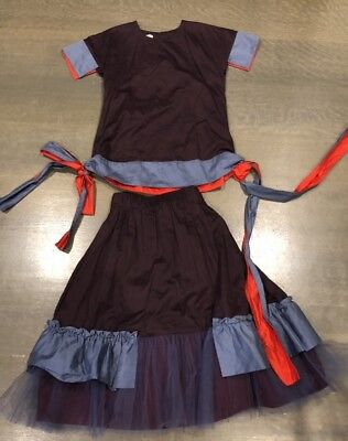 Wolf&Rita Girls Two Piece Multicolor Puff Skirt Beautiful Outfit Size 10