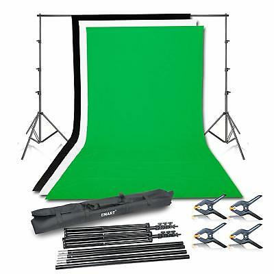 Photo Video Studio Background Backdrop Stand Kit, 8.5x10ft Photography System