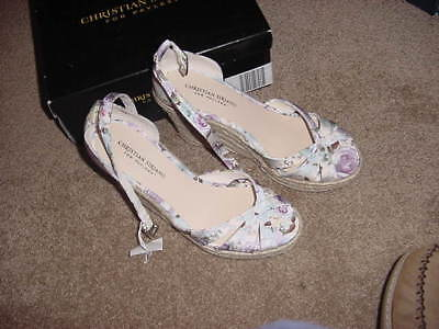 52a95c9173d6 Women s Shoes Christian Siriano New Heel Wedge Sandals Solstice Size 9 1 2  Print