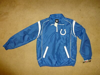 b9e41e63 INDIANAPOLIS COLTS QUARTER Zip Pullover Jacket Size Medium NEW with Tags