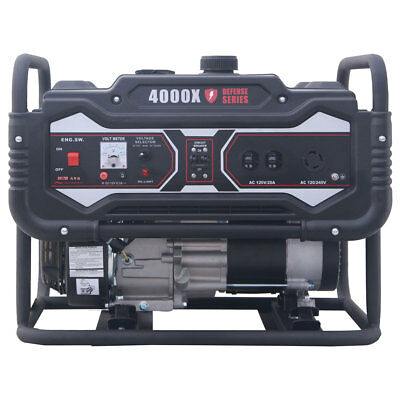 Carroll Stream CS4000X Defense Series 4250W Watt Gas Generator 120 240V Portable