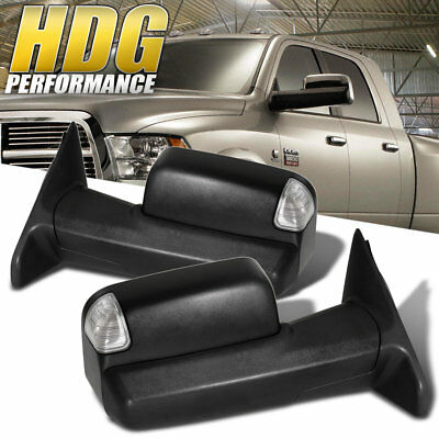 Puddle LED Power Heated Tow Extendable Side View Mirrors 10-12 Ram 2500 3500
