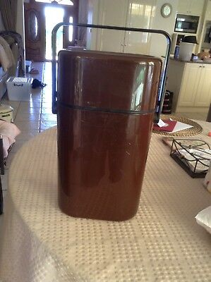 Decor 545 Australia BROWN 2 Bottle BYO Insulated Wine Cooler Carrier Used