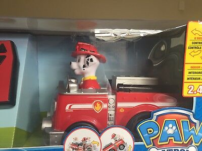 Paw Patrol MARSHALL 2.4 GHZ Radio Control Fire Truck Rescue Racer NEW!