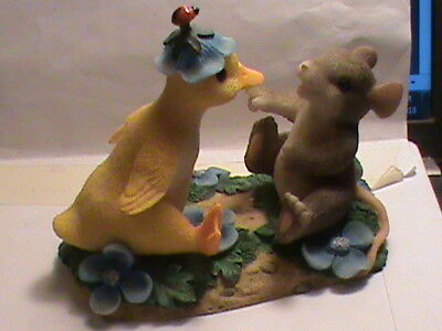 "Fitz and Floyd Charming Tails  ""YOU QUACK ME UP"" FIGURINE   (109)"