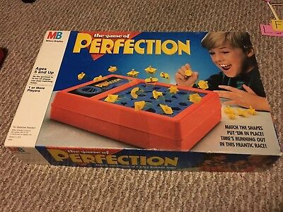 1989 Perfection Board Game. 100% Complete Great Condition