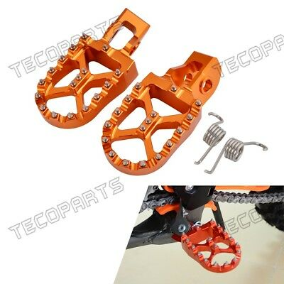 MX Foot Pegs Footpegs Rest Pedals Wide For KTM XCF 250 17-19XCF 350 450 16-19