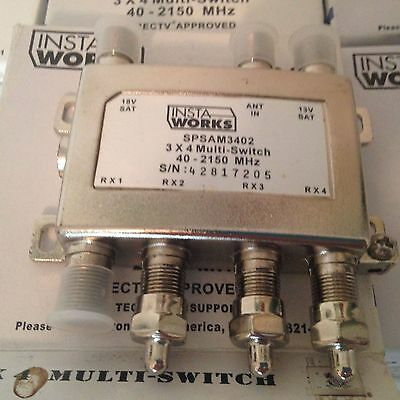 Lot of 2 Perfect Vision 3X4 SAM-3402 Multi-Switch DirecTV Approved