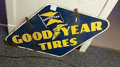 goodyear tires porcelain sign gas and oil