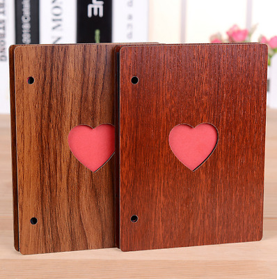 Wood Photo DIY Album Baby Growth Book Wedding Love Photograph Lovers Crafts Gift