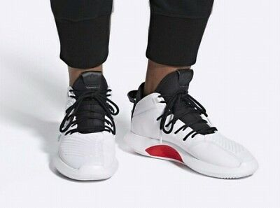 5812d72f7c2 Adidas Crazy 1 ADV Mens AQ0320 White Black Red Leather Basketball Shoes  Size 10