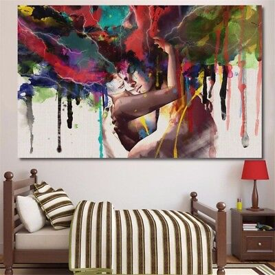 90x60cm Large Canvas Print Art Picture Decor Abstract Couple Painting Unframed