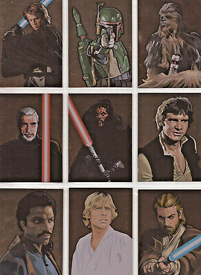 Star Wars - Galaxy Series 5 - Bronze Foil - Complete 15 Card Chase Set - 2010 NM