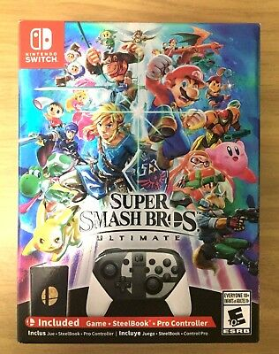Super Smash Bros Ultimate - Special Edition  W/ Coin - Nintendo Switch - NEW