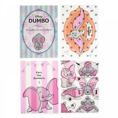 New Disney Store Japan Clear File Dumbo Pink pastel F/S
