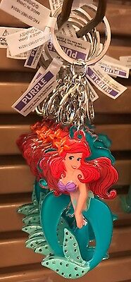 Disney Parks The Little Mermaid Ariel Acrylic Keychain W/ Stones New