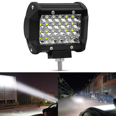 1PC 4inch 72W 24 LED Work Light Bar Combo Beam Offroad 4WD Truck Driving Lamp
