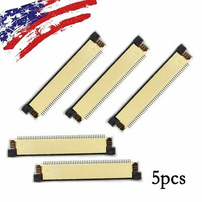 5 pcs 0.5mm Pitch Clamshell FFC FPC Flexible Flat Cable Connector Socket 50 pin