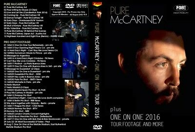 Paul Mccartney. Pure. One On One Tour 2016. Dvd.