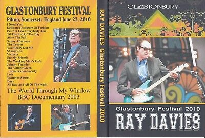 Ray Davies. (Kinks). 2010. Glastonbury Festival + Bbc Documentary. Dvd.