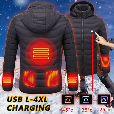 Electric USB Heated Gear Pad Vest Men&Women Thermal Coat Outdoor Skiing Casual