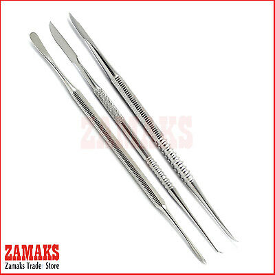 Set Of 3 Lecron Carver and Modelling Wax Carving Dentistry Beale Carevrs Tools