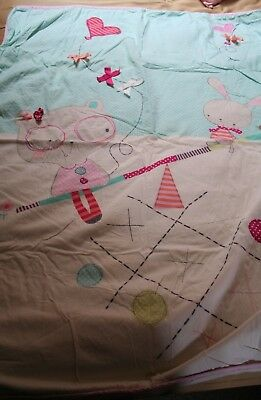 Child's Pictorial Fleece Backed Blanket/Quilt Colourful, Unisex Great Condition.