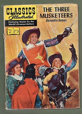 Classics Illustrated Comic book The Three Musketeers UK edition # 67. #502