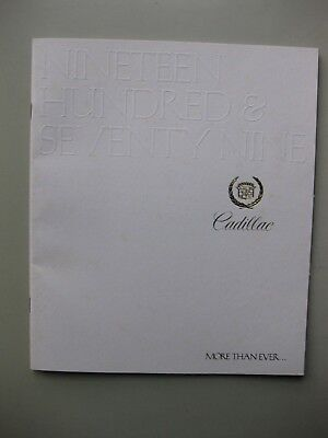 Cadillac incl. Seville  brochure Prospekt English text 32 pages 1979