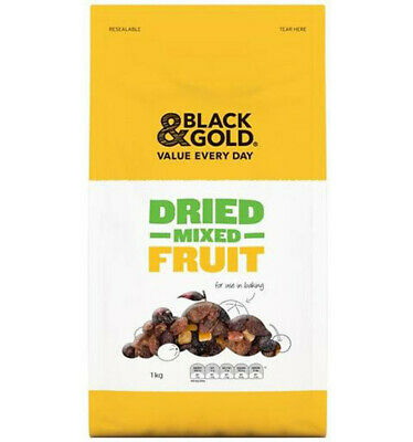 Black & Gold Dried Mixed Fruit 1kg