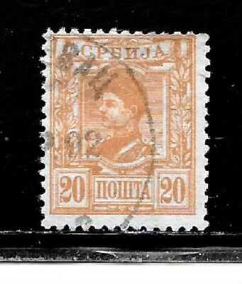 Serbia Stamps- Scott # 36/A6-20p-Canc/LH-1880-NG