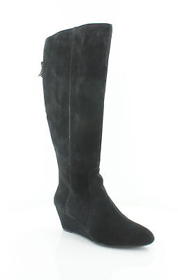 1913db7147ca ANNE KLEIN WOMENS Azriel Black Knee-High Boots Wedges 10 Medium (B