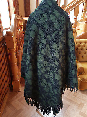 Antique big shawl wool mohair Russian Empire 19th century
