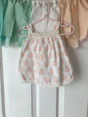 3b35f17f622e BABY GAP GIRL Sz 0-3 months Pink Eyelet Summer Shift Dress ...