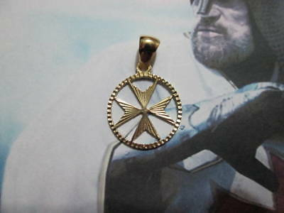 Cross of the Knights Templar made Yellow Gold 18 K- artisan product