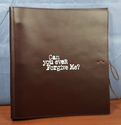 CAN YOU EVER FORGIVE ME ? FYC PROMO Leather Bound SCREENPLAY Script HAND SIGNED