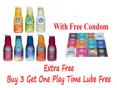 SEX LUBE LUBRICANT FLAVOUR Play Time Water Based Sensation Lube Intimate 75ml