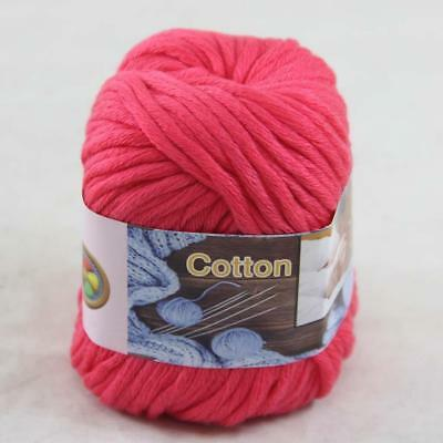 Sale New 1ballx50g Yarn Soft Worsted Cotton Chunky Shawl Scarf Hand Knitting 16