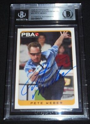 2008 Rittenhouse Bowling Legends Pete Weber Signed Card Autograph Auto PBA HOF