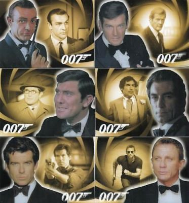 James Bond 007 - Heroes & Villains Men of James Bond - Complete Card Set (6) -NM