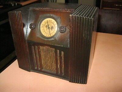 Miniature 4 Tube Console Deco Radio Working - For Restoration Parts Tombstone